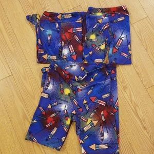 BNWT lularoe 3 piece Mommy & Me Patriotic Leggings